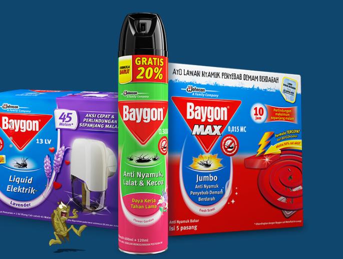 Gambar 1 - Produk-produk yang ditawarkan oleh Baygon
